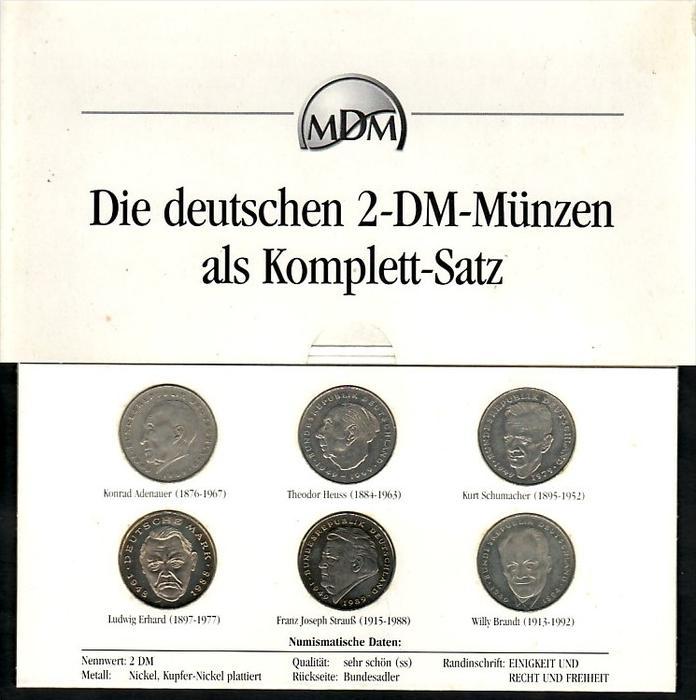 Brd 2 Dm Münzen Komplett Satz Zz4008 Siehe Scan Nr 242248278