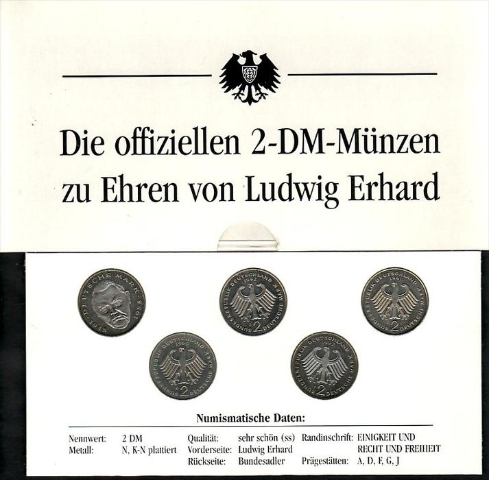 Brd 2 Dm Münzen Ludwig Erhard Zz4006 Siehe Scan Nr 242248296