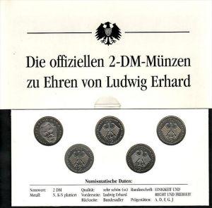 BRD  2 DM Münzen  Ludwig Erhard   (zz4006 )  siehe scan !