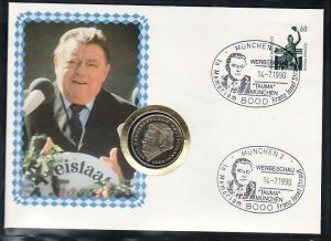 BRD  2 DM Numisbrief  Franz Josef Strauß   (zz4022 )  siehe scan !