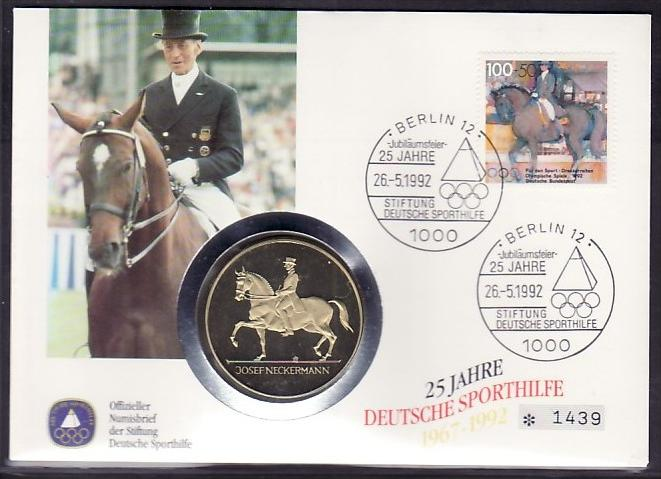 BRD  Medalien Brief  Olymia 1992   (zz4020 )  siehe scan !