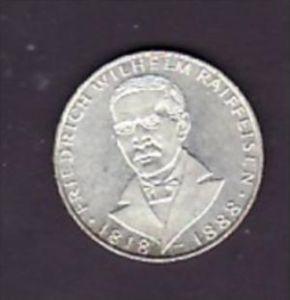 BRD 5,-Mark   W.Reiffeisen  1968  -Silber  (x1544 ) siehe scan !