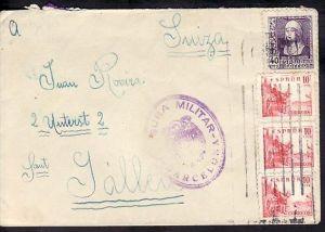 Spanien mit Zensur  alter Brief  (zz3972 ) siehe scan  !