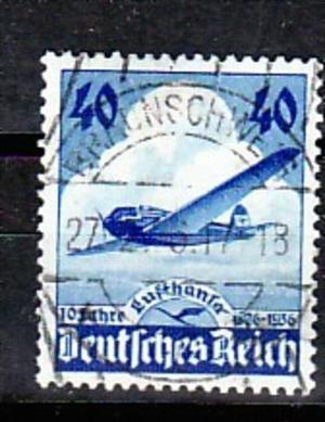 D.Reich  Nr.  603 PLF Strich in Lufthansa  o    ( f 7000   ) siehe scan  !