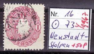 Sachsen Nummerstempel auf Wappen- Nr. 73 Neustadt Stolpen       (y9967  ) siehe scan vergrößert  !