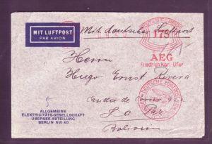 D.-Reich   Südamerika Fahrt auf Freistempler Brief -rar !   ( p3503 ) siehe scan  !