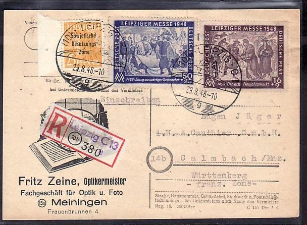 SBZ  Karte Leipzig  Messe   (zz4375 ) siehe scan