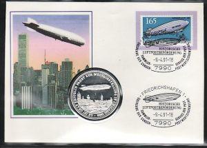 BRD   Numisbrief  Zeppelin   (zz 4390 ) siehe scan