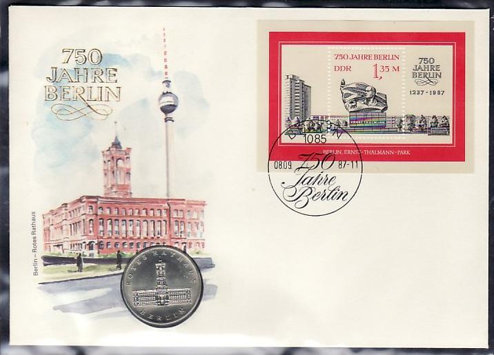 DDR  Numisbrief  750 Jahre Berlin   (zz 4411 ) siehe scan