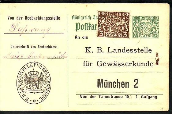 Bayern  alte Ganzsache   (bc117  ) siehe scan  !!