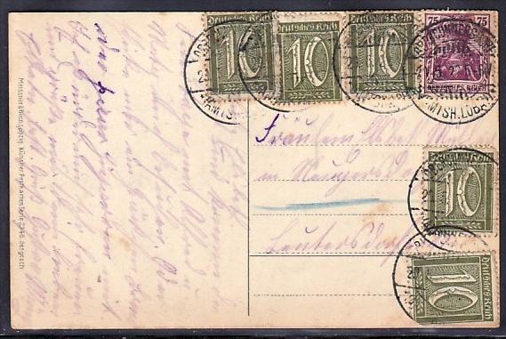 D.-Reich Infla Karte  (bc291 ) siehe scan