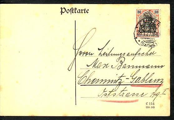 D.-Reich Infla Karte   ( bc268 ) siehe scan
