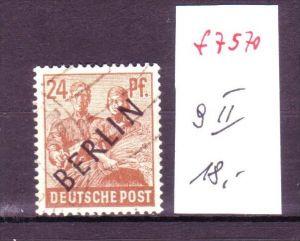 Berlin Nr.  9 II   o (f7570  ) siehe scan  !