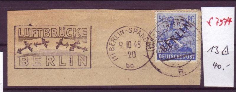 Berlin brief mit luftbr cken stempel zz7111 siehe scan for Stempel berlin mitte