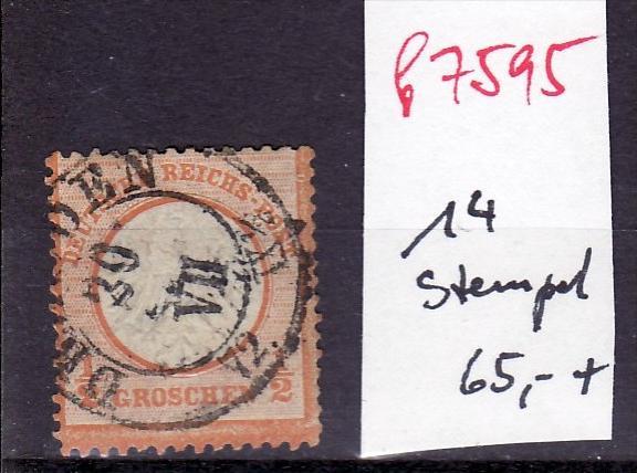 D.-Reich Nr.  14 Stempel  !   (f7595    ) siehe scan  !