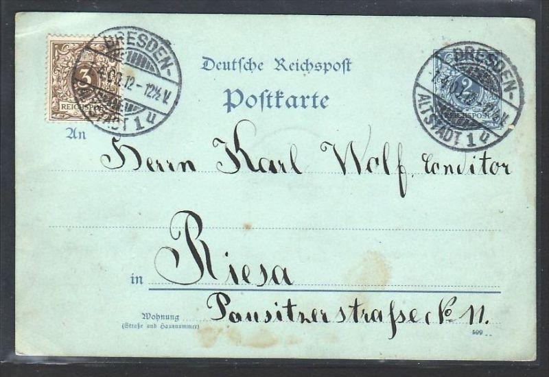 DR  Ganzsache  Dresden & Privatpost..so selten !  (bc724 ) siehe scan !