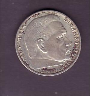 D.-Reich  2,-Mark Hindenburg   Silber  (x1548 ) siehe scan !