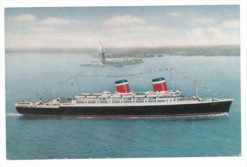 alte Karte  -Dampfer -SS America    (bc1128  ) siehe scan  !