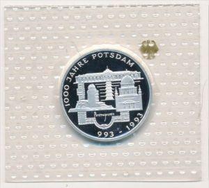 Deutschland  Silber 10 ,-D.-Mark 1993 Potsdam   Polierte Platte-PP   (x1605 )