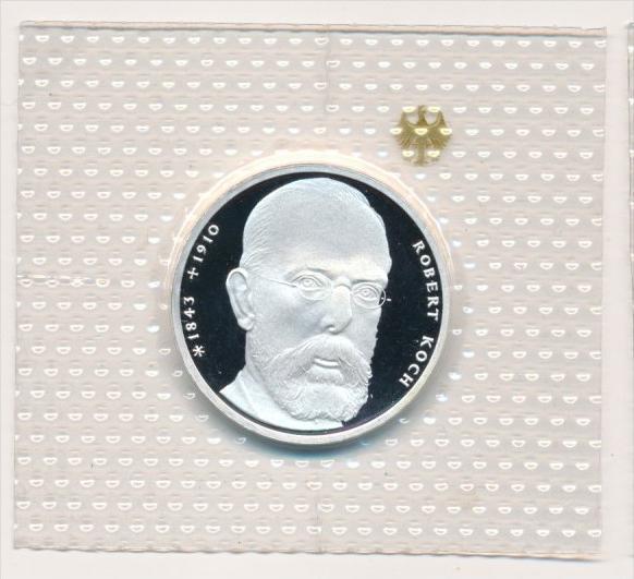 Deutschland  Silber 10 ,-D.-Mark 1993J R.-Koch    Polierte Platte-PP   (x1624 )
