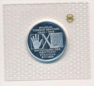 Deutschland  Silber 10 ,-D.-Mark 1995 D  Röntgen    Polierte Platte-PP   (x1623 )