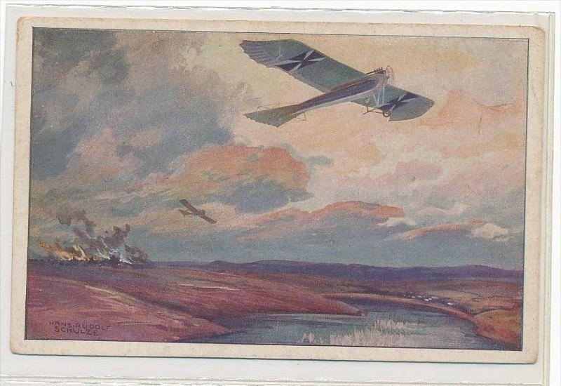 Flugzeug Gemälde  -Karte  ungebraucht  (bc1329 ) siehe scan !