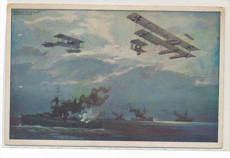 Flugzeug Gemälde  -Karte  ungebraucht  (bc1328 ) siehe scan !