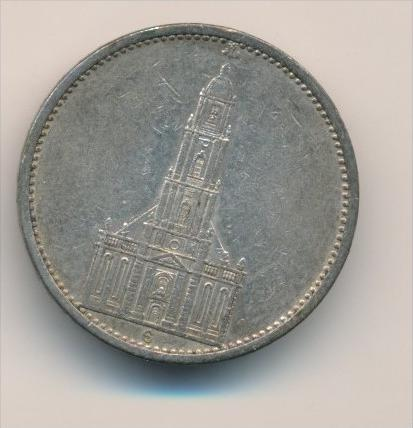D.-Reich   5 Mark  Silber 1934 G   ( x1693  ) siehe scan vergrößert !
