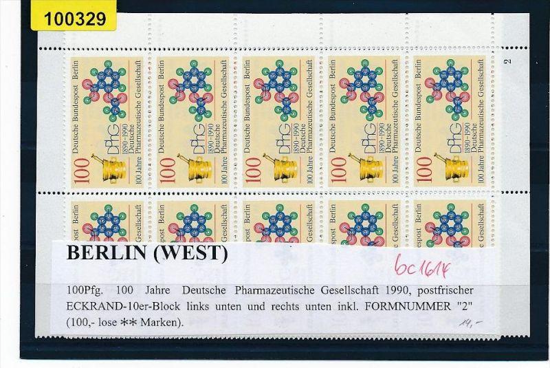 Berlin 2x 10er Block Pharmazeutische Gesellschaft  1990  aus der Ecke   **(bc1614 ) siehe scan  !