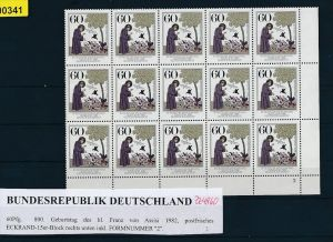 BRD Lot  15 x ** Franz v.Assisi 1982   (zz4860  ) siehe scan  !