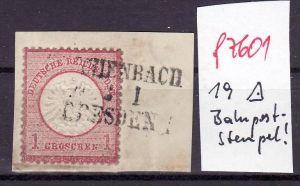 D.-Reich Nr.  19  Stempel  !   (f7601   ) siehe scan  !