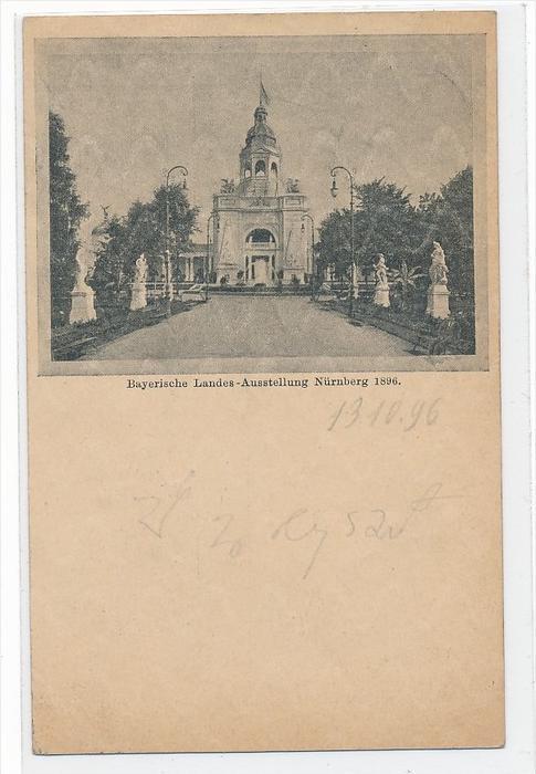 Bayern Ganzsache zur LandesAusstellung 1896 Nürnberg  (bc1730 ) siehe scan  !
