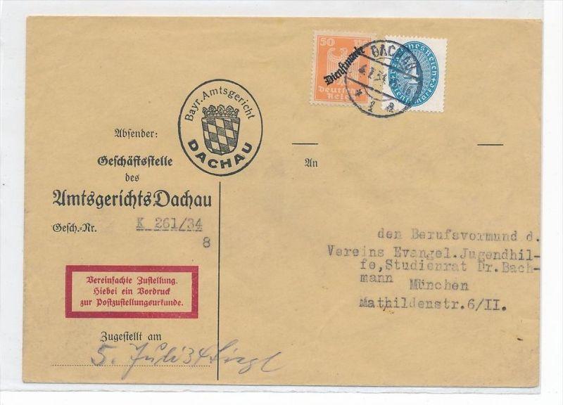D.-Reich Dienstpost Beleg -Zustellurkunde  ( zz4877 ) siehe scan  !