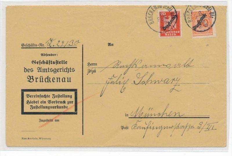 D.-Reich Dienstpost Beleg -Zustellurkunde  ( zz4875 ) siehe scan  !
