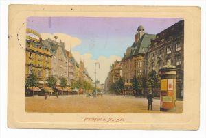 alte Karte - Frankfurt Main  (bc2151 ) siehe scan  !