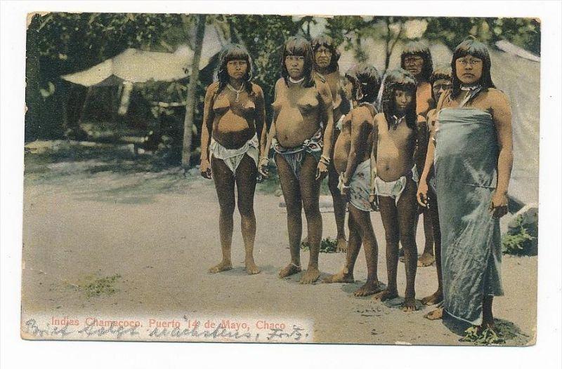 Indianer/Eingebohrene....  -alte Karte  (bc2279 ) siehe scan !