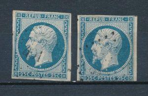 Frankreich Nr. 9 a+b  o    ( f8130  ) siehe scan !
