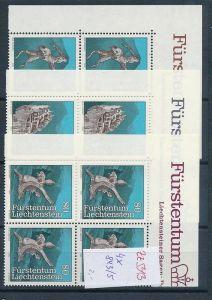 Liechtenstein  4er Eckrand Block **/MNH  843-5  (zz5313 ) Discount unter ABO Preis !!!