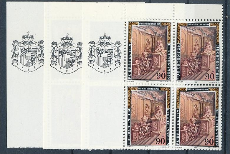 Liechtenstein  4er Eckrand Block **/MNH  925-7  (zz5321 ) Discount unter ABO Preis !!!