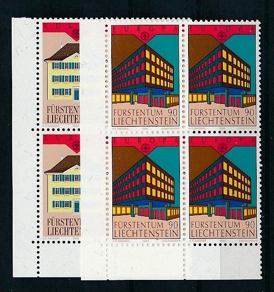 Liechtenstein  4er Eckrand Block **/MNH  984-5  (zz5323 ) Discount unter ABO Preis !!!