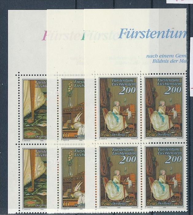 Liechtenstein  4er Eckrand Block **/MNH  957-9  (zz5325 ) Discount unter ABO Preis !!!