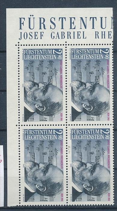 Liechtenstein  4er Eckrand Block **/MNH  963   (zz5326 ) Discount unter ABO Preis !!!