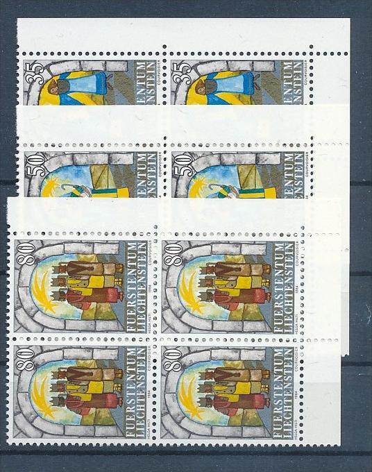 Liechtenstein  4er Eckrand Block **/MNH  861-3 (zz5328 ) Discount unter ABO Preis !!!