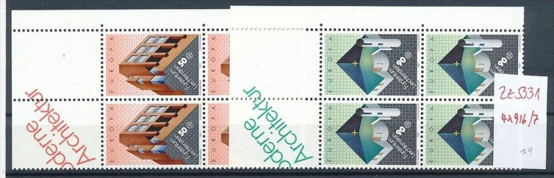 Liechtenstein  4er Eckrand Block **/MNH  916-7  (zz5331 ) Discount unter ABO Preis !!!