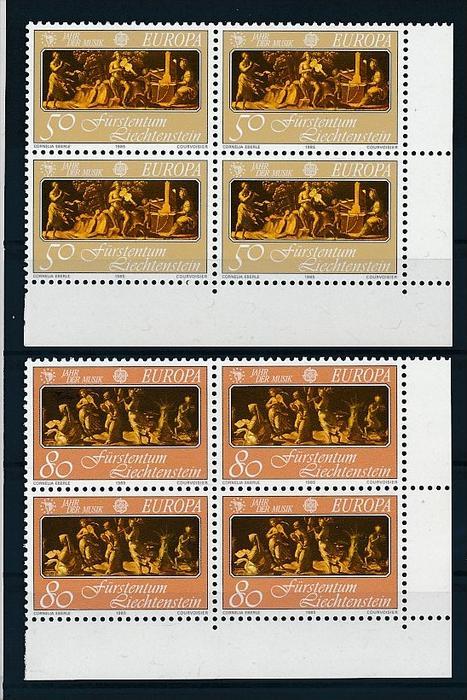 Liechtenstein  4er Eckrand Block **/MNH  866-7  (zz5334 ) Discount unter ABO Preis !!!