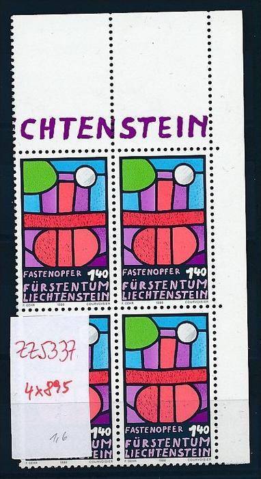 Liechtenstein  4er Eckrand Block **/MNH  895  (zz5337 ) Discount unter ABO Preis !!!