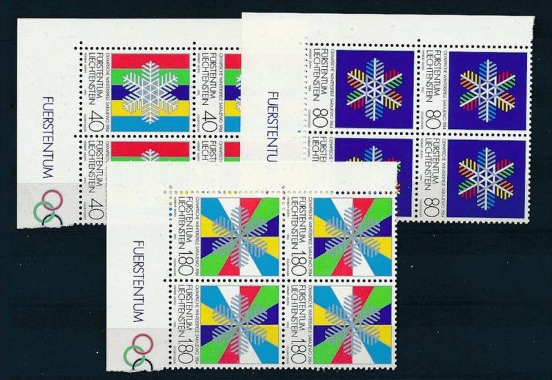 Liechtenstein  4er Eckrand Block **/MNH  934-6  (zz5339 ) Discount unter ABO Preis !!!