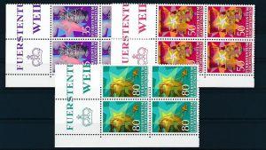 Liechtenstein  4er Eckrand Block **/MNH  884-6  (zz5340 ) Discount unter ABO Preis !!!