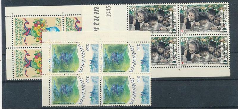 Liechtenstein  4er Eckrand Block **/MNH  1105-7   (zz5407  ) Discount unter ABO Preis !!!