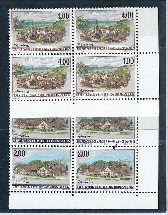 Liechtenstein  4er Eckrand Block **/MNH  1177-8  (zz5289  ) Discount unter ABO Preis !!!